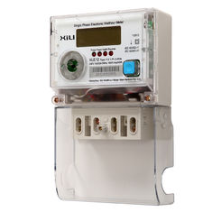 Single Phase Multifunction Energy Meter / Polycarbonate digital electronic energy meters