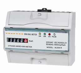 Portable 3 phase din rail kwh meter with Drum Register AC 230 Volt 50Hz or 60Hz